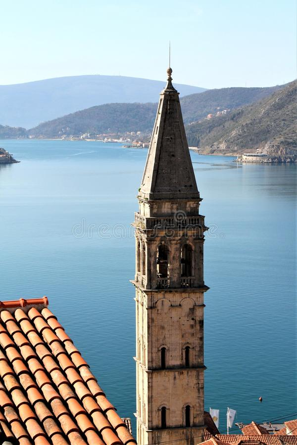 Ciudad vieja de Perast - Montenegro fotografía de archivo libre de regalías