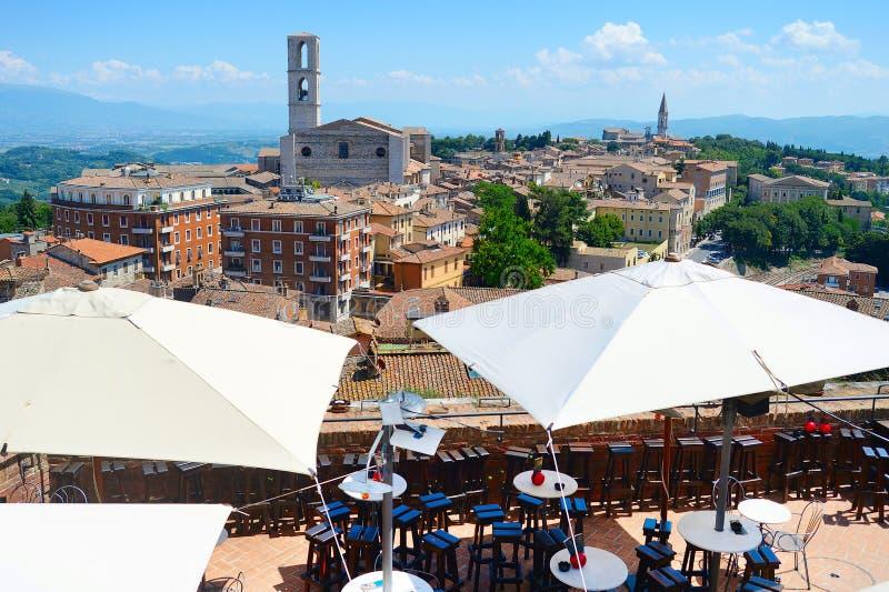 Ciudad vieja de Perugia imagen de archivo libre de regalías