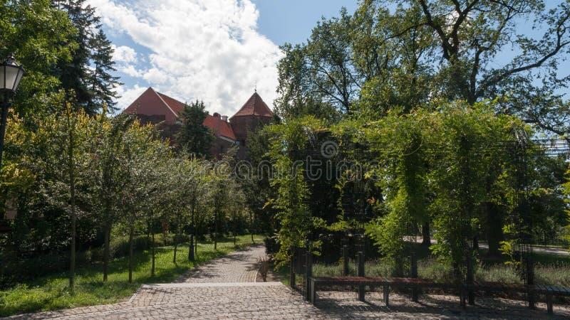 Ciudad vieja de Plock en Polonia fotografía de archivo