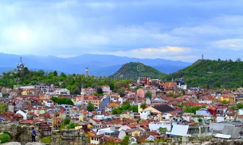 Ciudad vieja de Plovdiv imagen de archivo libre de regalías