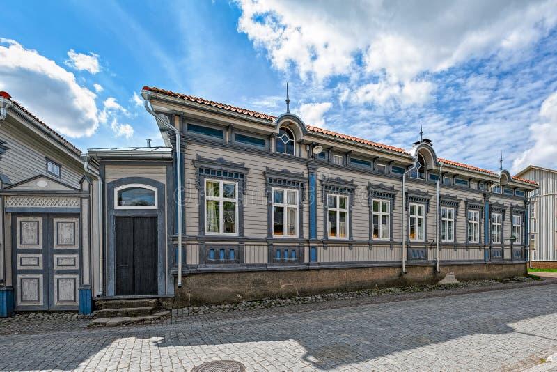 Ciudad vieja de Rauma, Finlandia fotografía de archivo