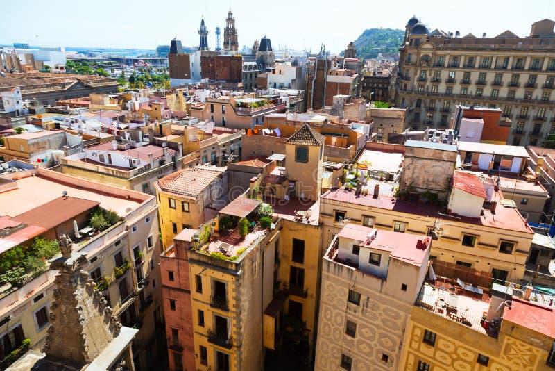 Ciudad vieja de Santa Maria Del Mar Barcelona imágenes de archivo libres de regalías