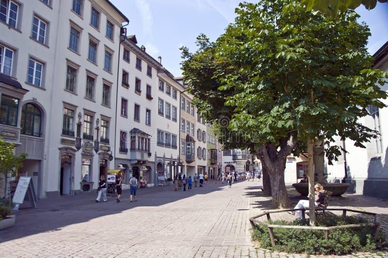 Ciudad vieja de Schaffhausen fotos de archivo libres de regalías