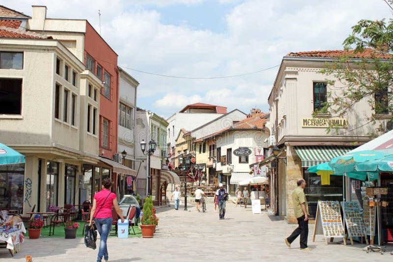 Ciudad vieja de Skopje fotos de archivo libres de regalías