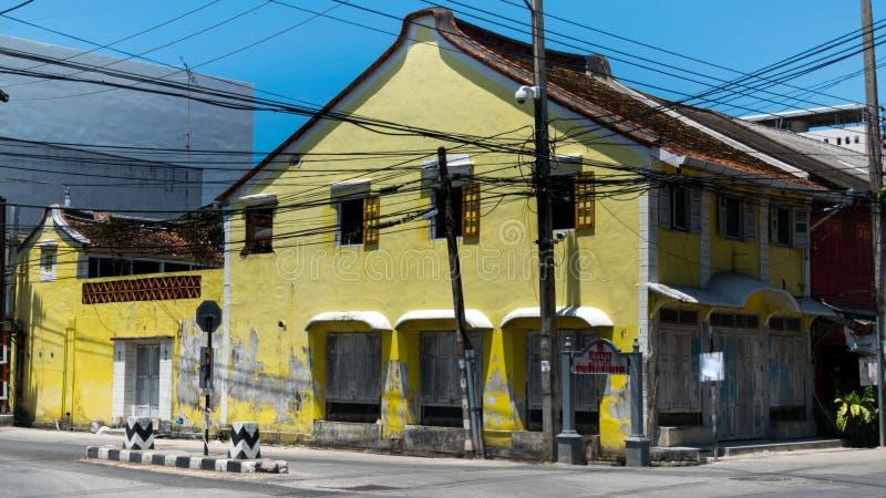 Ciudad vieja de Songkhla fotos de archivo