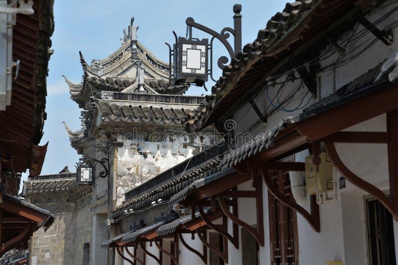 Ciudad vieja de Suzhou, arquitectura tradicional, China fotografía de archivo