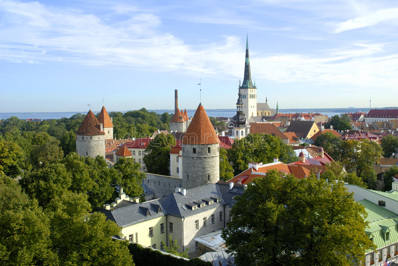 Ciudad vieja de Tallinn imágenes de archivo libres de regalías