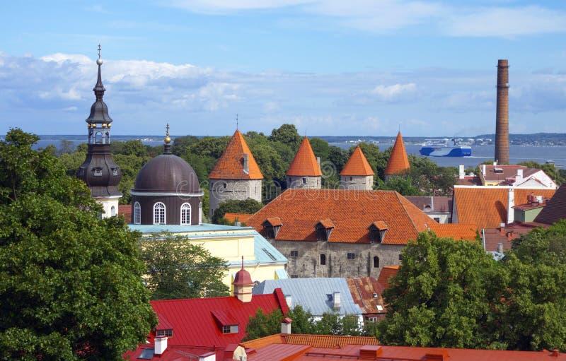 Ciudad vieja de Tallinn imagen de archivo libre de regalías