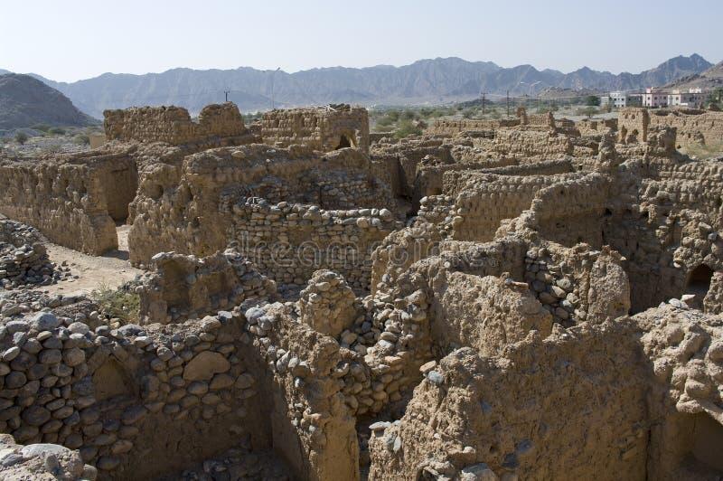 Ciudad vieja de Tanuf, Omán imagen de archivo