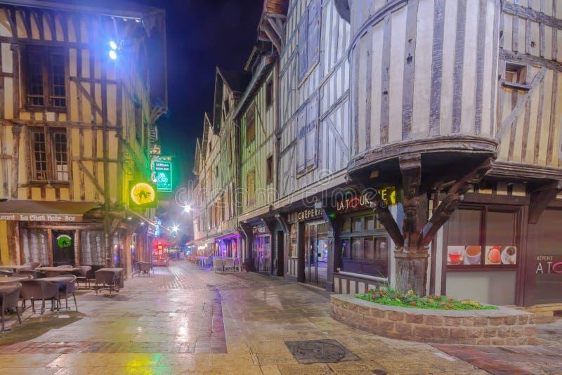 Ciudad vieja de Troyes imagen de archivo