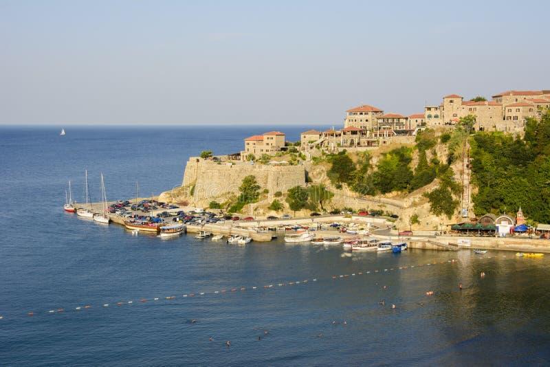 Ciudad vieja de Ulcinj, Montenegro imagen de archivo libre de regalías