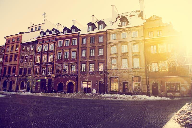 Ciudad vieja de Varsovia, Polonia fotografía de archivo