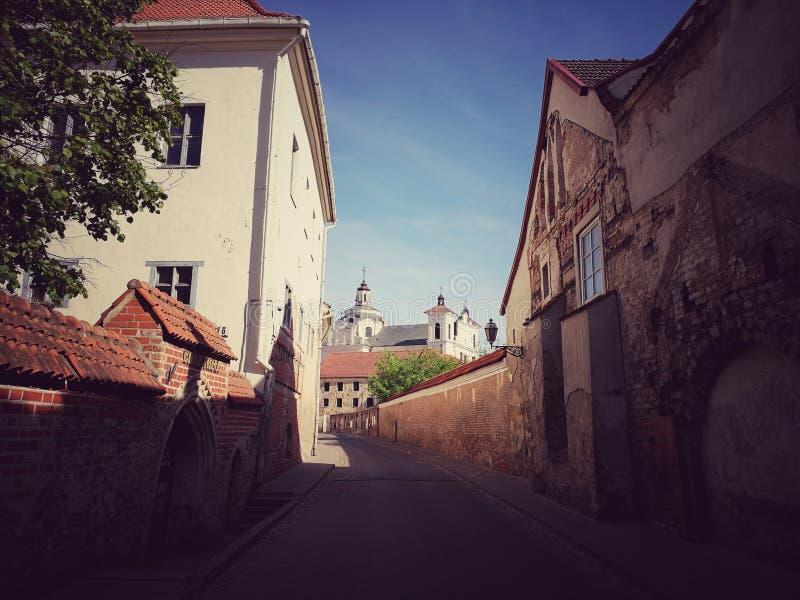 Ciudad vieja de Vilnius fotografía de archivo