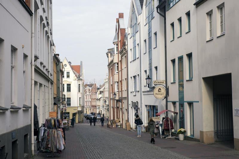 Ciudad vieja de Wismar imagen de archivo