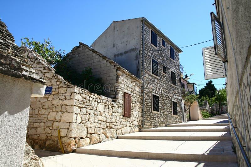 Ciudad vieja en ciudad croata imagen de archivo libre de regalías
