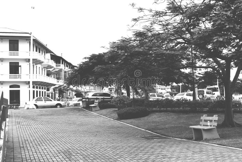 Ciudad vieja en ciudad de Panamá fotos de archivo libres de regalías