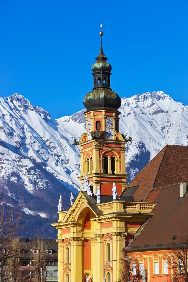 Ciudad vieja en Innsbruck Austria foto de archivo libre de regalías