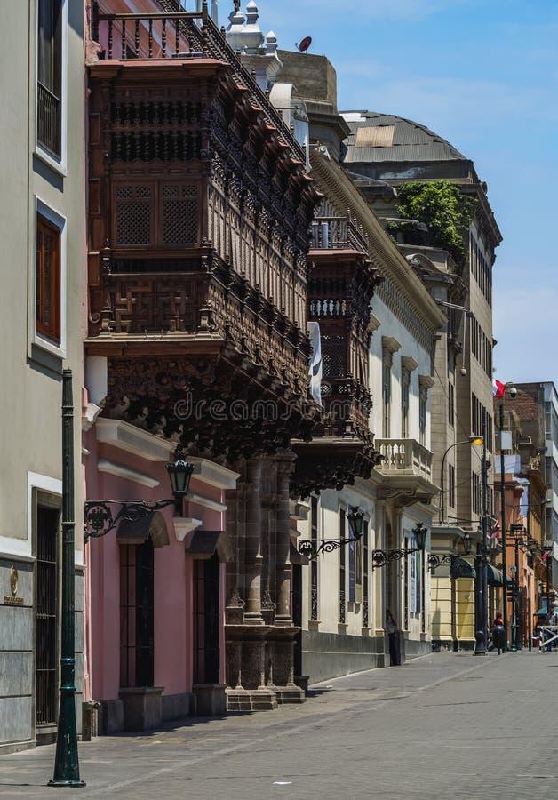 Ciudad vieja en Lima, Perú foto de archivo libre de regalías