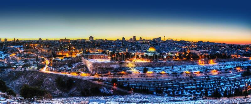 Ciudad vieja en panorama de Jerusalén, Israel fotos de archivo libres de regalías