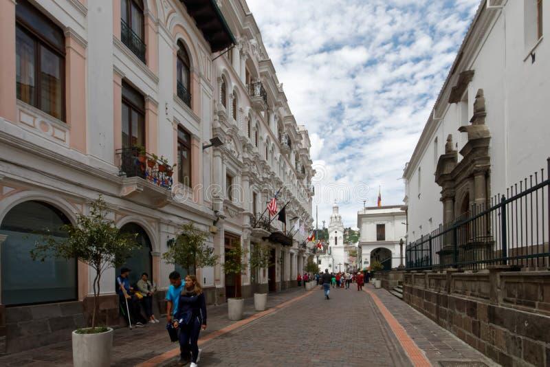 Ciudad vieja en Quito, Ecuador 1 imágenes de archivo libres de regalías
