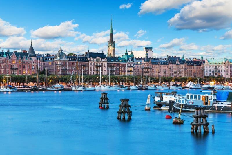 Ciudad vieja en Stockhom, Suecia fotos de archivo