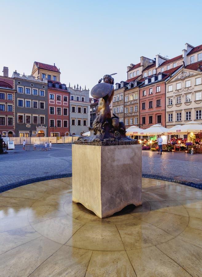 Ciudad vieja en Varsovia, Polonia fotos de archivo