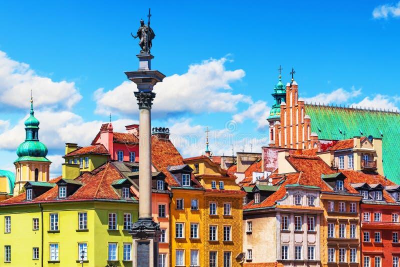 Ciudad vieja en Varsovia, Polonia fotografía de archivo