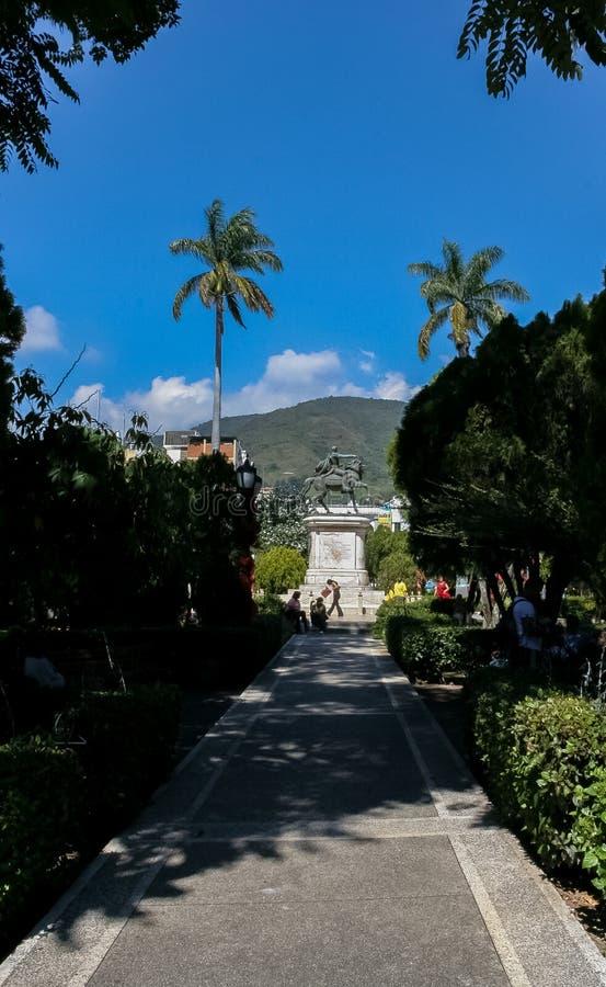 Ciudad vieja en Venezuela en la ciudad de Mérida fotos de archivo libres de regalías