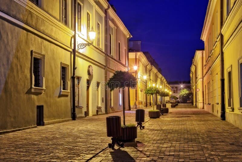 Ciudad vieja en Zamosc fotos de archivo