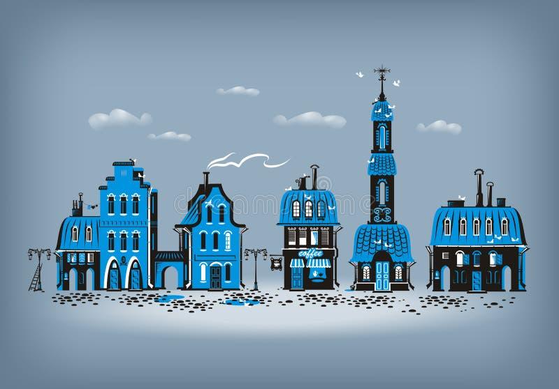 Ciudad vieja. Formato del vector ilustración del vector