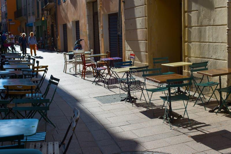ciudad vieja Francia del restaurante de la calle imágenes de archivo libres de regalías