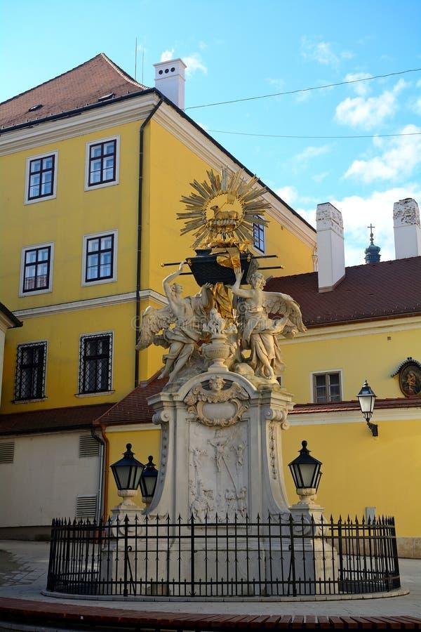 Ciudad vieja, Gyor, Hungría foto de archivo