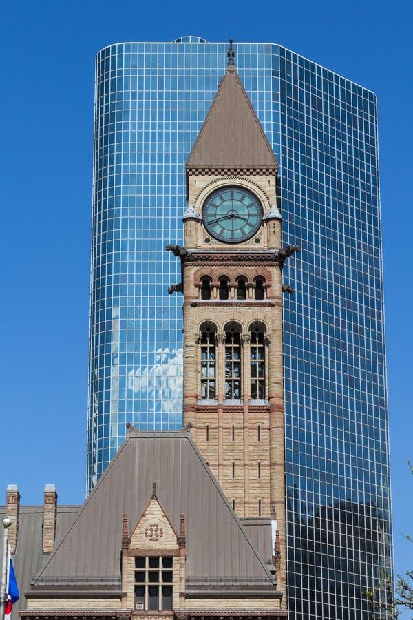 Ciudad vieja Hall Clock Tower imagenes de archivo