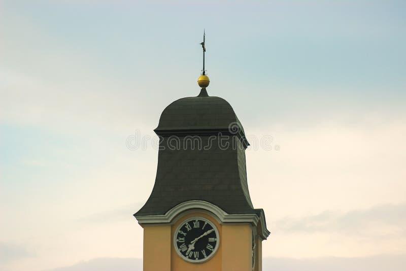 Ciudad vieja Hall Clock Tower foto de archivo libre de regalías
