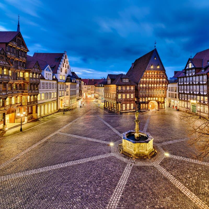 Ciudad vieja histórica de Hildesheim, Alemania fotografía de archivo libre de regalías