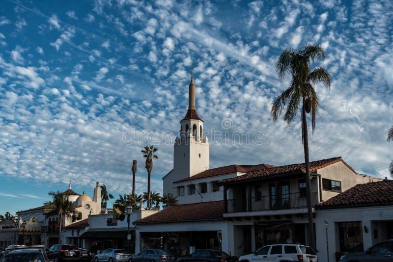 Ciudad vieja histórica en Santa Barbara California imágenes de archivo libres de regalías