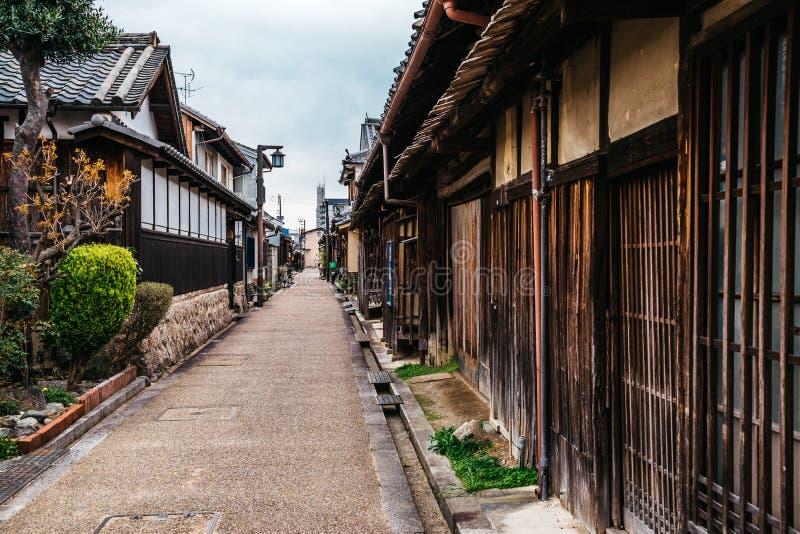 Ciudad vieja japonesa Imaicho en Nara, Japón foto de archivo