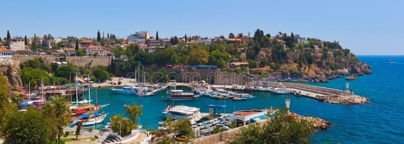 Ciudad vieja Kaleici en Antalya, Turquía foto de archivo libre de regalías