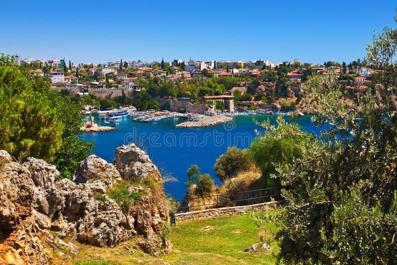 Ciudad vieja Kaleici en Antalya Turquía foto de archivo