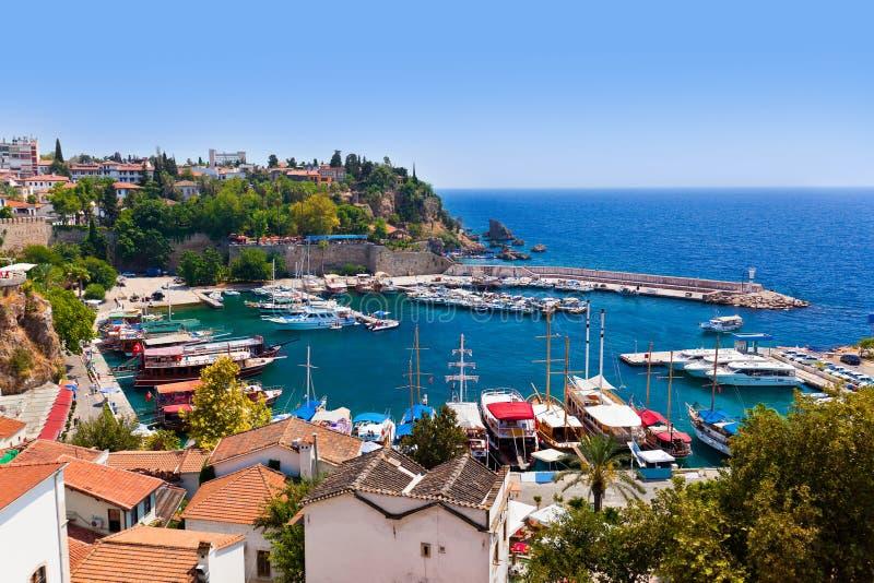 Ciudad vieja Kaleici en Antalya, Turquía fotografía de archivo libre de regalías