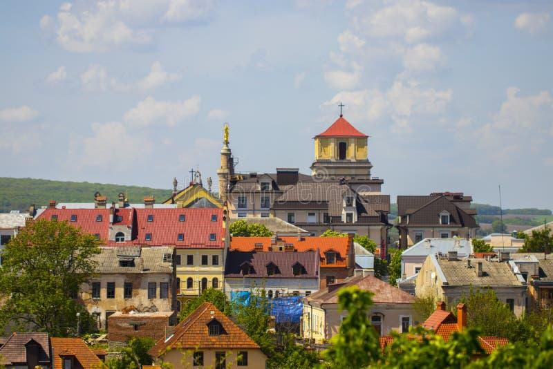 Ciudad vieja Kamenetz-Podolsk Ucrania fotografía de archivo