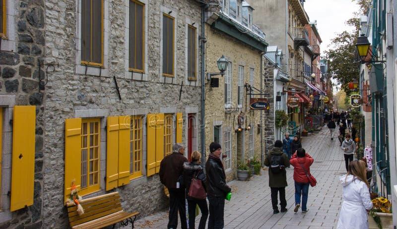 Ciudad vieja la ciudad de Quebec imagen de archivo libre de regalías