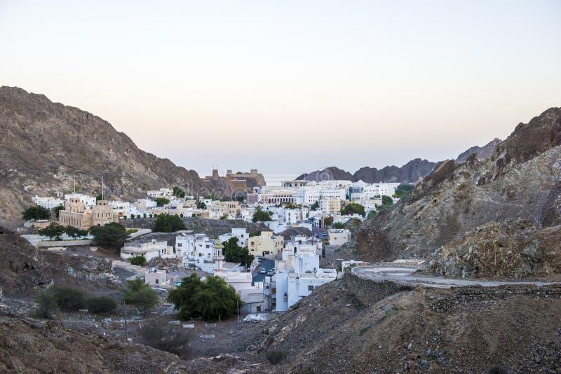 Ciudad vieja Muscat, Omán fotografía de archivo libre de regalías