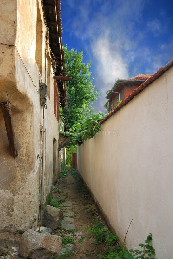 Ciudad vieja Plovdiv (Bulgaria) imagen de archivo