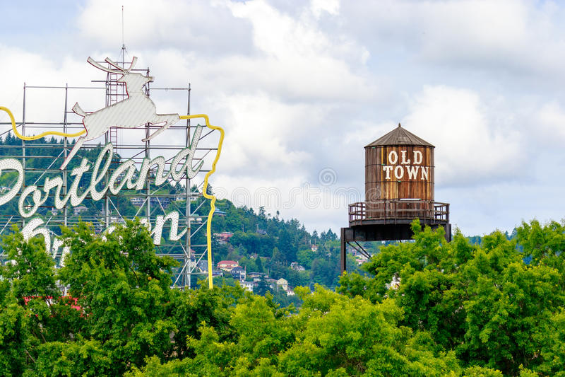 Ciudad vieja Portland Oregon imágenes de archivo libres de regalías