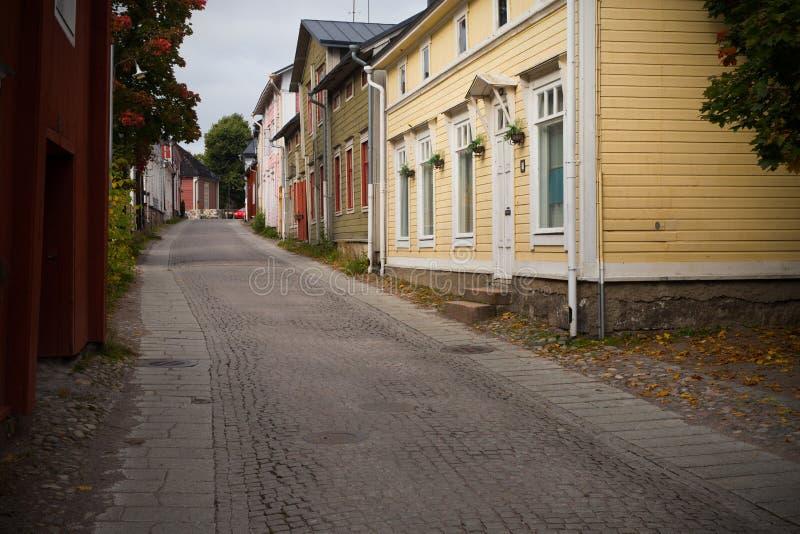 Ciudad vieja - Porvoo, Finlandia fotografía de archivo