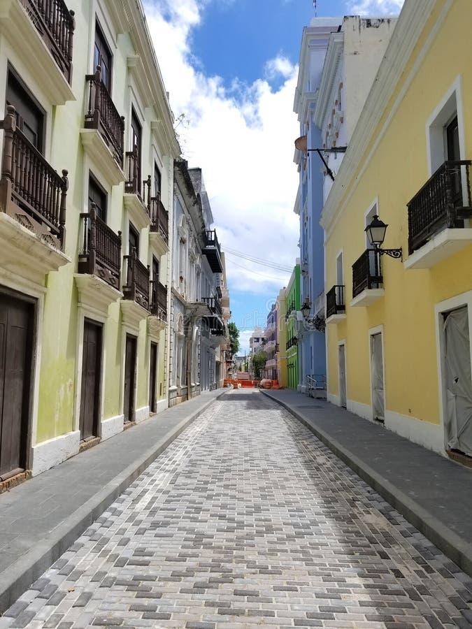 Ciudad vieja San Juan, Puerto Rico imagen de archivo libre de regalías