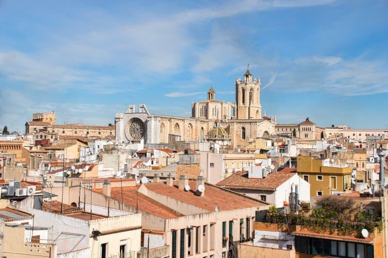 Ciudad vieja Tarragona imagen de archivo libre de regalías