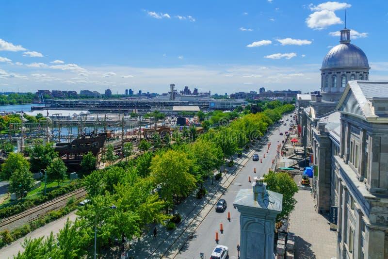 Ciudad vieja y puerto viejo, Montreal imagen de archivo libre de regalías