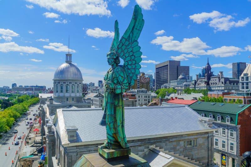 Ciudad vieja y puerto viejo, Montreal fotos de archivo libres de regalías